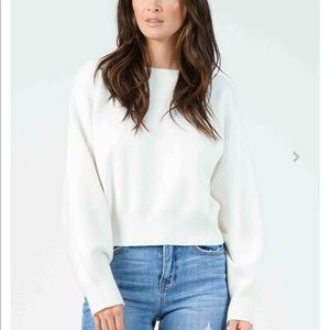 Lucca- Miranda Bubble Sleeve Crop Sweater Size Med